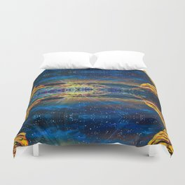 Concert at Red Rocks Painting  Duvet Cover