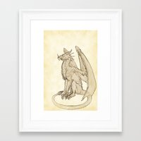warcraft Framed Art Prints featuring Lyrasz; Portrait of a Young Wyrm by Defiler Wyrm