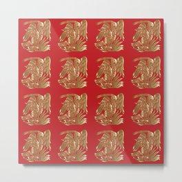 Elegant pattern 3. Phoenix Metal Print
