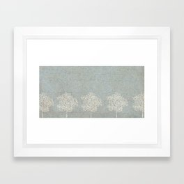 Snowy Trees Framed Art Print