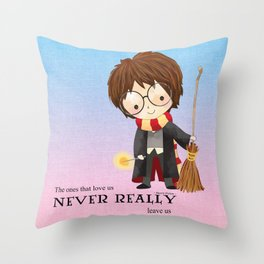 Never realy leave us Throw Pillow