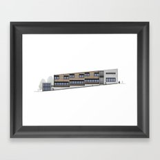 School Facade Framed Art Print