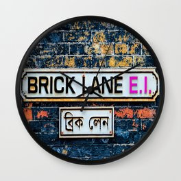 London Brick Lane Sign Wall Clock