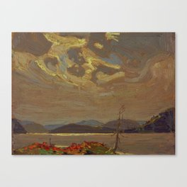 Tom Thomson Hills and Swirling Sky 1915 Canadian Landscape Artist Canvas Print