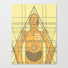C3PO Deco Droid Canvas Print
