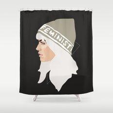 Feminist (Silver) Shower Curtain