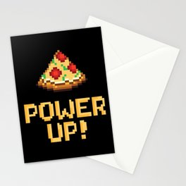 pizza power up Stationery Cards