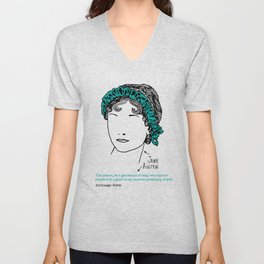 History's Women: Jane Austen Unisex V-Neck