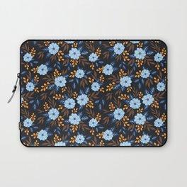 Soft Blue Florals Laptop Sleeve