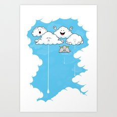 Young Clouds fooling around Art Print