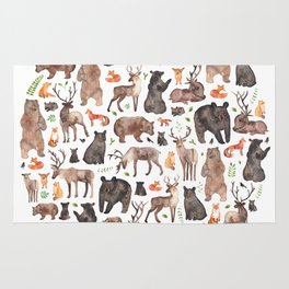 Woodland or Forest Animals! Rug