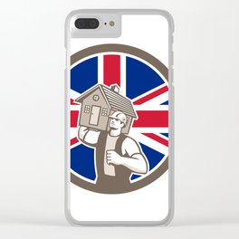 British House Removal Union Jack Flag Icon Clear iPhone Case
