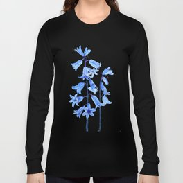 botanical bluebell flowers watercolor Long Sleeve T-shirt