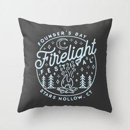 Firelight Festival Throw Pillow