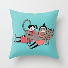 It's always a good time to hug a cat Throw Pillow