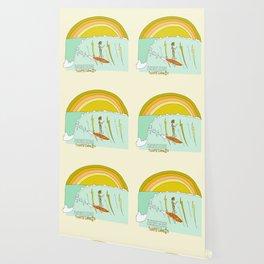 surf legend gerry lopez lightning bolt retro surf art by surfy birdy Wallpaper