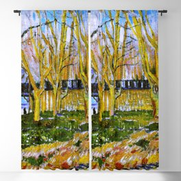 Avenue of Plane Trees near Arles Station, Vincent van Gogh Blackout Curtain