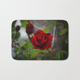 Red Rose by Little Prince Bath Mat