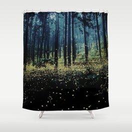 Twilight Fireflies Shower Curtain