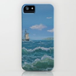 Happy day on the ocea iPhone Case