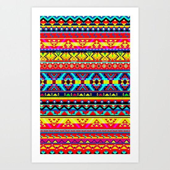 Aztec Style 2 Art Print