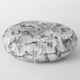 coleus black and white Floor Pillow