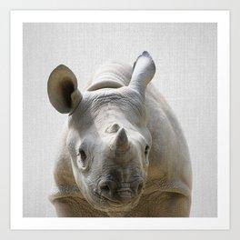 Baby Rhino - Colorful Art Print