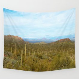 Arizona Landscape with Saguaro cactus Wall Tapestry