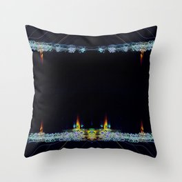 Electric Candlelight Throw Pillow