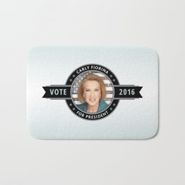 Carly Fiorina For President Bath Mat