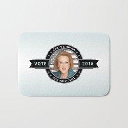 Carly Fiorina For President Bath Mat
