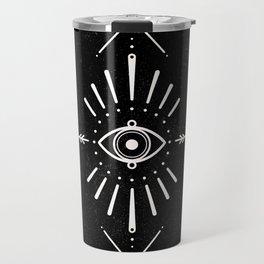 Evil Eye Monochrome Travel Mug