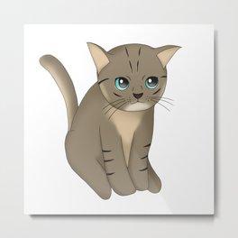 Staring Kitten Metal Print