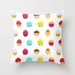 Tasty Cupcakes! Throw Pillow