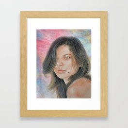 Beautiful and Sexy Actress Jeananne Goossen IV Altered Version Framed Art Print