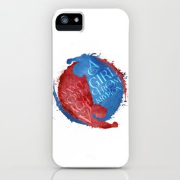 a girl from krypton - supervalor yin yang iPhone Case