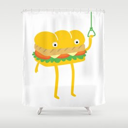 Foot Long Shower Curtain