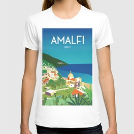 Amalfi Italy vintage travel poster city T-shirt