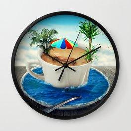 summer holiday cup Wall Clock