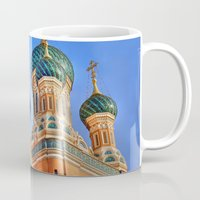 russia Mugs featuring Basilica in Russia  by Limitless Design