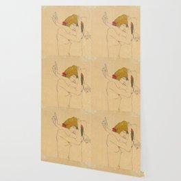 """Egon Schiele """"Two Women Embracing"""" Wallpaper"""