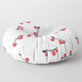 White Roller Skates Floor Pillow
