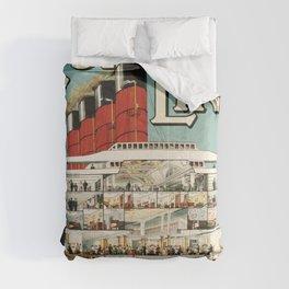Cunard line vintage travel poster Comforters