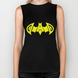 Dad Daddy Super Hero Funny Birthday Fathers Day Gift papa T-Shirts Biker Tank