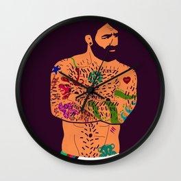 The artist - natural Wall Clock