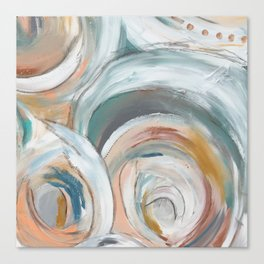 Abstract chic - cirlces and dots Canvas Print