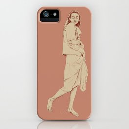 Girl in pink iPhone Case