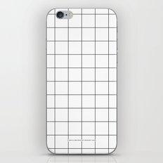 White Grid  /// www.pencilmeinstationery.com iPhone & iPod Skin