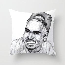 ChrisBrown Dots Throw Pillow
