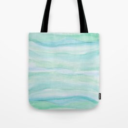 Blue Green Watercolor Layers Tote Bag